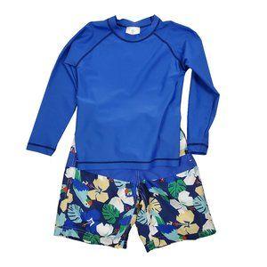 Hanna Andersson Rash Guard Swim Suit 2 piece Set